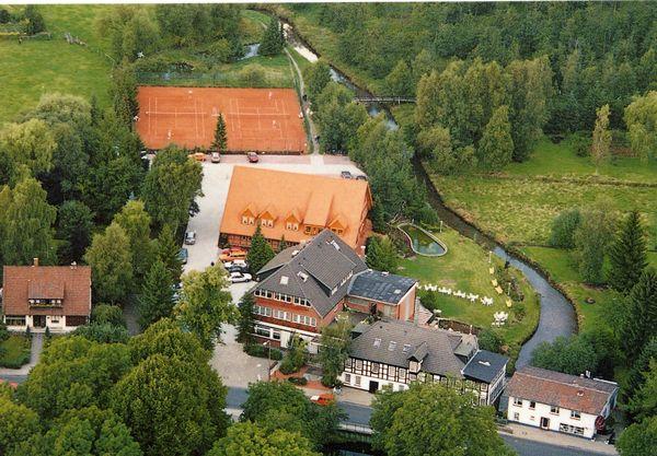 Wasser-Muehle-Harpstedt-um-1991-Zur-Wasserburg-Restaurant-AKZENT-Hotel-Wildeshauser-Geest-Bremen